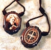 Saint Benedict Wood Pendant on Cord