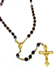 January Birthstone Bead Gold Rosary