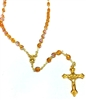 November Birthstone Bead Gold Rosary