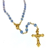December Birthstone Bead Gold Rosary
