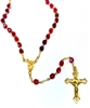 July Birthstone Bead Gold Rosary