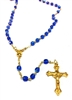 September Birthstone Bead Gold Rosary