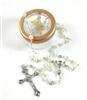 Girls Imitation Pearl Bead First Communion Rosary