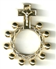 Oxidized Metal Gold One Decade Rosary Ring from Italy