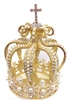 Large Rhinestone Pearl Gold Crown For Statue