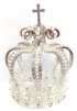 Large Rhinestone Pearl Silver Crown For Statue