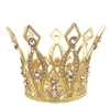 Small Rhinestone Gold Crown For Statue