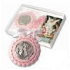 Guardian Angel Crib Medal with Pink Rosary PB105PK