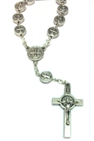 Saint Benedict Silver One Decade Rosary