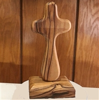Olive Wood Comfort Cross with Magnetic Stand CRS1602B