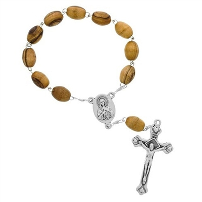 Olive Wood Bethlehem One Decade Rosary