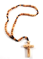 Olive Wood 6mm Bead Cord Rosary