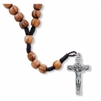Olive Wood Cord Rosary with Relic Crucifix