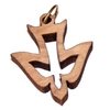 Confirmation Holy Spirit Olive Wood Pendant with Cord 9HS