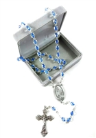 Our Lady of Fatima 100th Year Blue/Crystal Rosary L-277FT