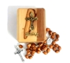 Olive Wood RCIA Rosary and Box Made in Bethlehem