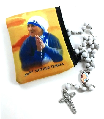 Saint Mother Teresa Large Rosary Pouch