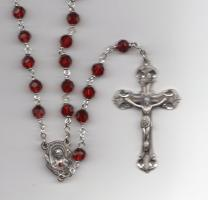 Vienna Ruby Sterling Rosary