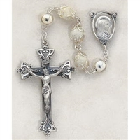Genuine Mother Of Pearl All Capped Bead Rosary