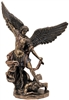 St. Michael Statue Cold-Cast Bronze Lightly Hand-Painted 10inches SR-74997