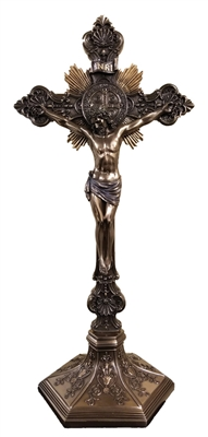 St. Benedict Crucifix Lightly Hand-Painted Cold Cast SR-77286