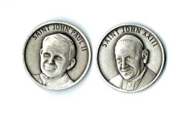 Dual Token (Coin) of St. Pope John Paul II and of Pope John XXIII