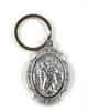 Saint Christopher All Silver Keychain