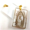 Our Lady of Guadalupe Gold and White Stone Pendant