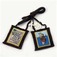 Saint Christopher Brown Scapular