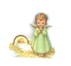 Christmas Little Angel with Sleeping Baby Jesus Scene X90-3