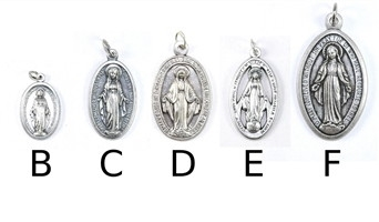 Oxidized Miraculous Medals