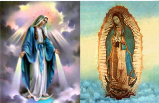 Our Lady of Grace or Our Lady of Guadalupe Tile Wall Plaques