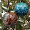 Set of 2: Blue & Red New Mexico Ornaments