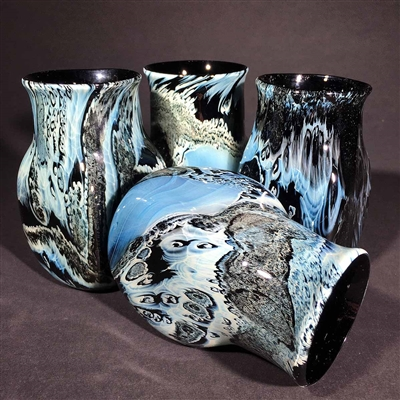 Blue New Mexico Tumbler - Set of Four