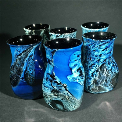 Blue New Mexico Tumbler - Set of Six