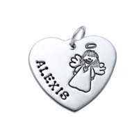 Large Heart Charm - Full Character Angel