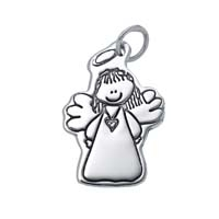Large Outline Charm - Angel