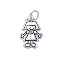 Small Outline Charm - Girl