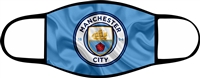 Man City Adjustable 2-3 Ply Face Mask-Adult-2 PACK