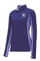 Womens Stretch Contrast 1/2-Zip Pullover