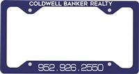 Coldwell License Plate Frame