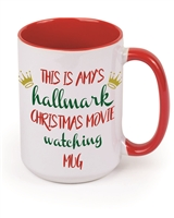 Custom Hallmark Movie Watching 15oz Mug
