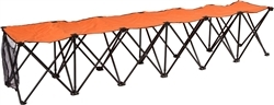 Orange Sideline Travel Bench-6 Seater
