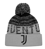 Juventus Striped Pom Beanie