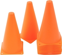 "9"" Plastic Cone -12 Pack (Orange or Mixed)"
