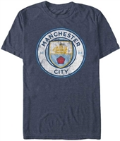 Manchester City Distressed Mens Tee