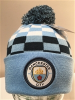 Manchester City F.C. CheckeredBeanie Ski Hat