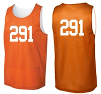 Numbered Reversible MESH Pinnie/Scrimmage Vest