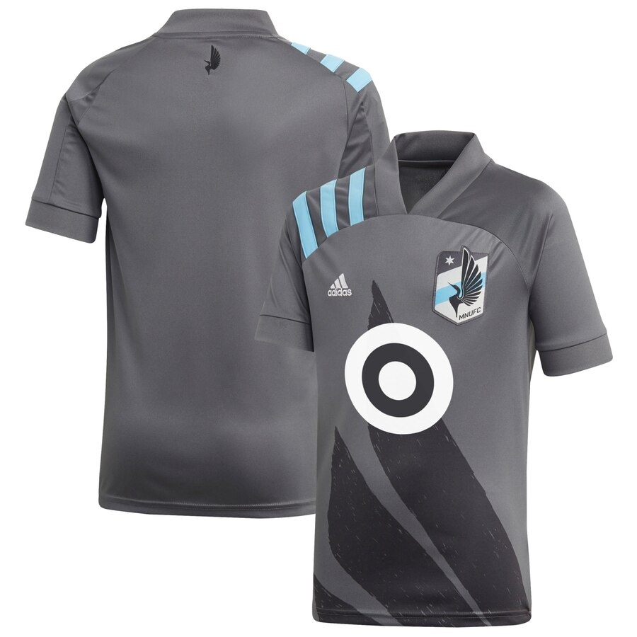 2020 Minnesota United FC Adidas Gray Wing Replica Jersey-YOUTH