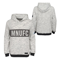 Minnesota United FC Adidas Heathered Gray Pullover Hoodie-YOUTH - YM